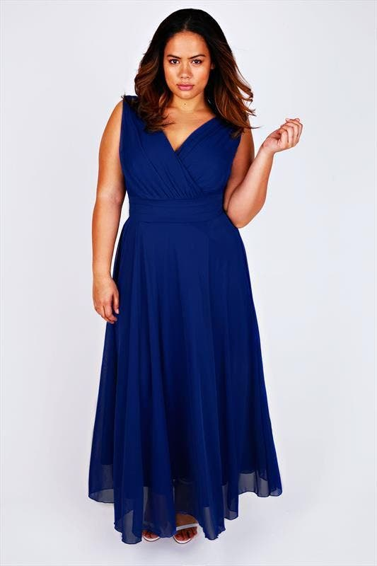 Robe longue invitee mariage grande taille