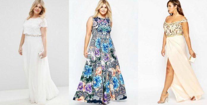 Belle robe longue grande taille