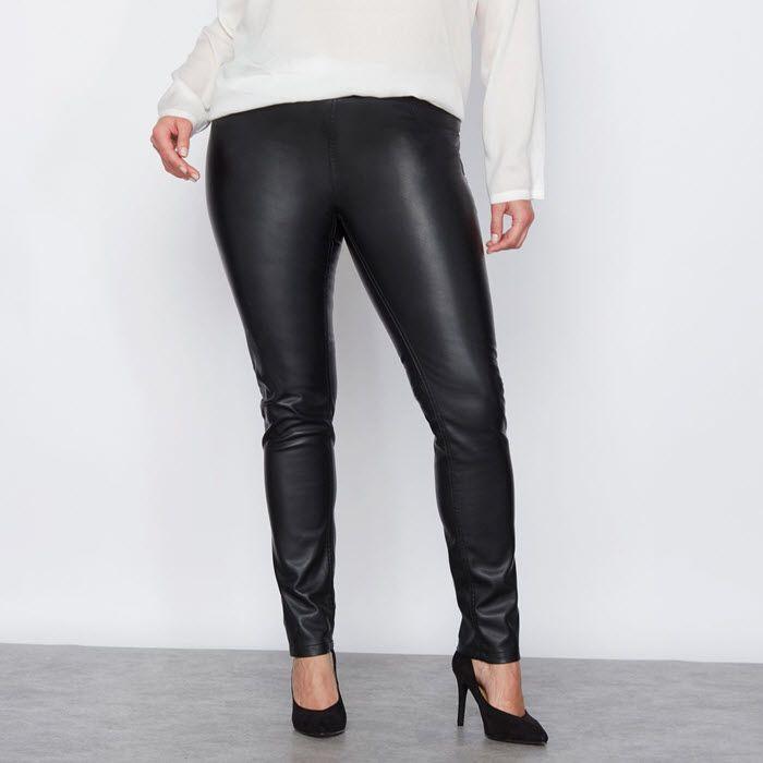 New York magasin britannique aspect esthétique Look ultra branché et pantalon simili cuir grande taille ...