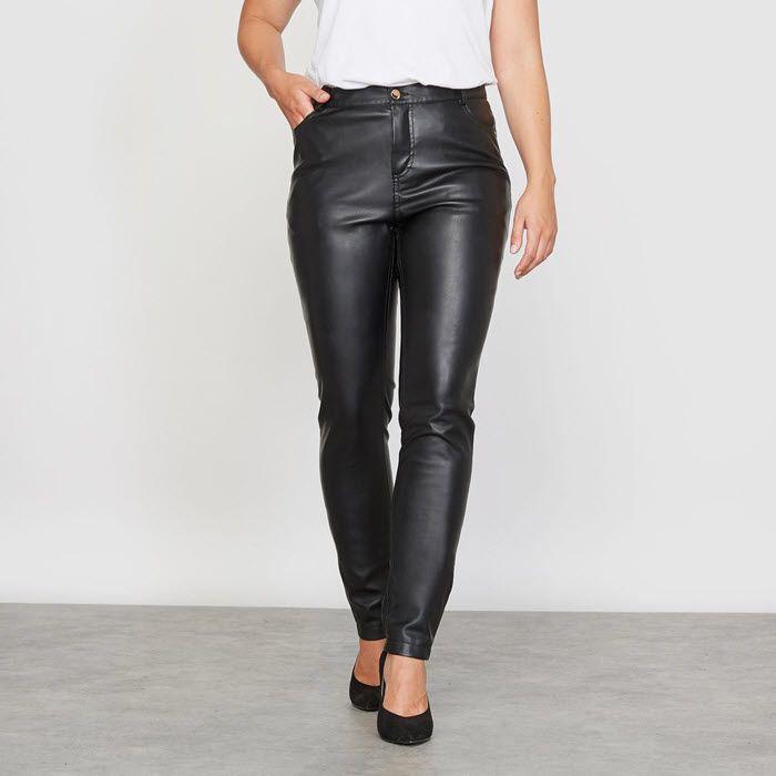 Look Ultra Branché Et Pantalon Simili Cuir Grande Taille