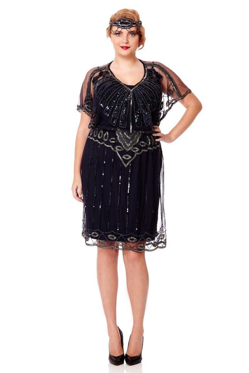 robe vintage grande taille gatsby le magnifique vous invite ce soir. Black Bedroom Furniture Sets. Home Design Ideas