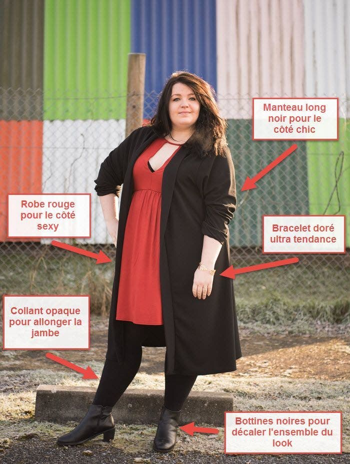 robe d 39 hiver grande taille deux looks branch s. Black Bedroom Furniture Sets. Home Design Ideas