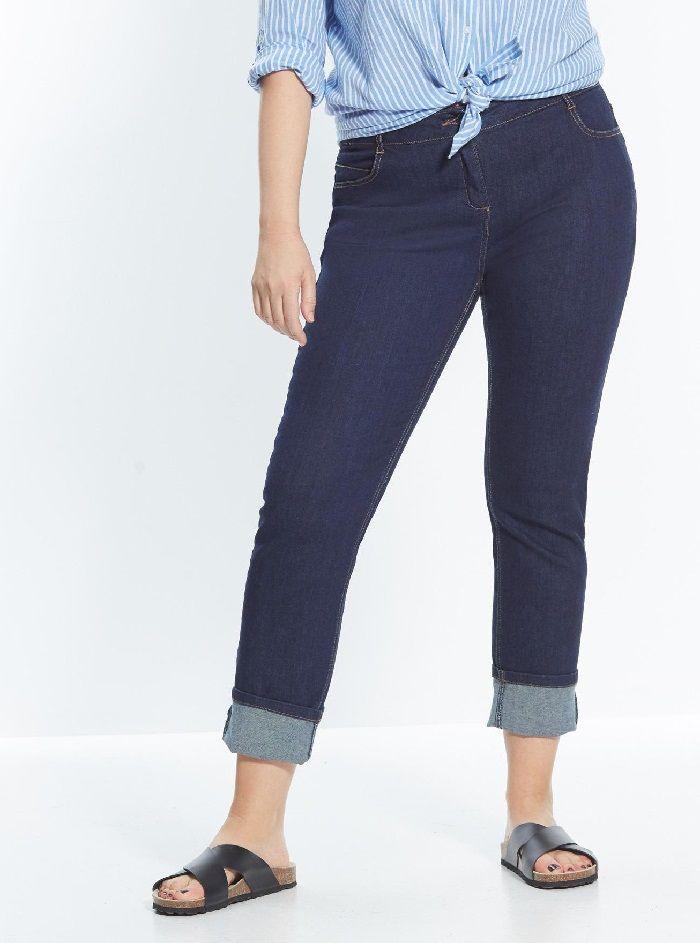 mince et forme Prochain Femmes Lift Indigo Jean Bootcut avec faux poche avant.