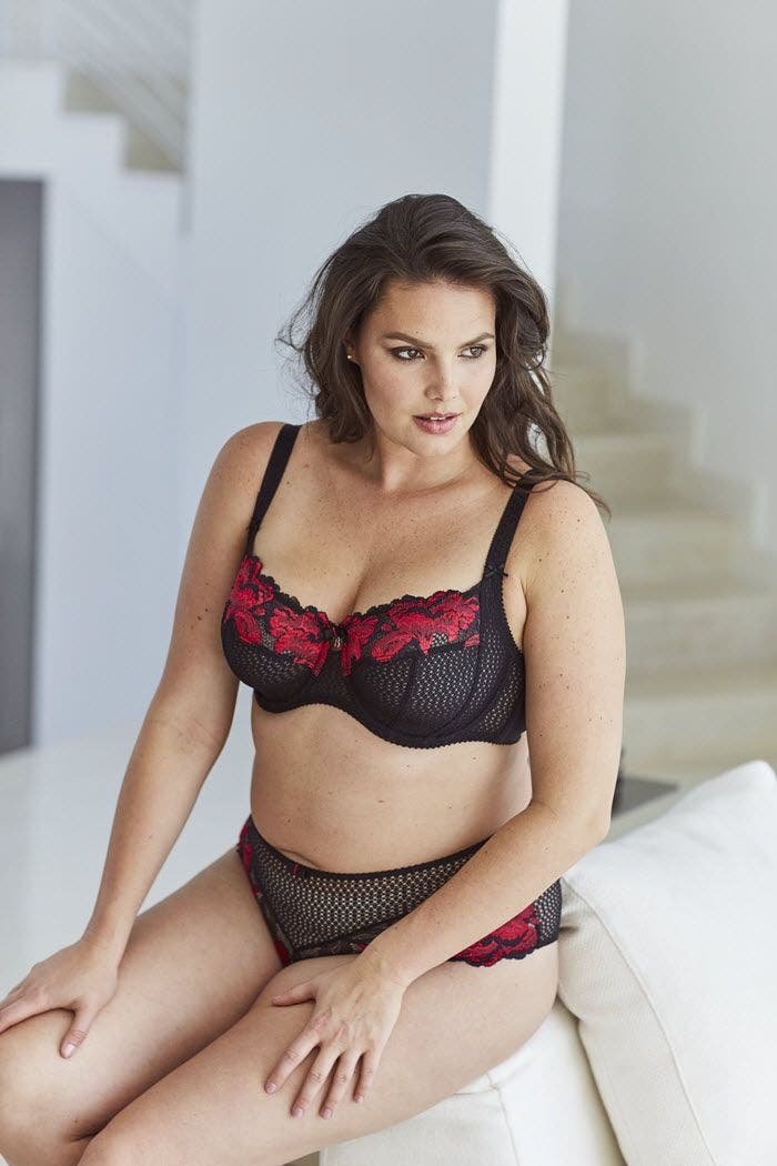 lingerie sexy grande taille rouge