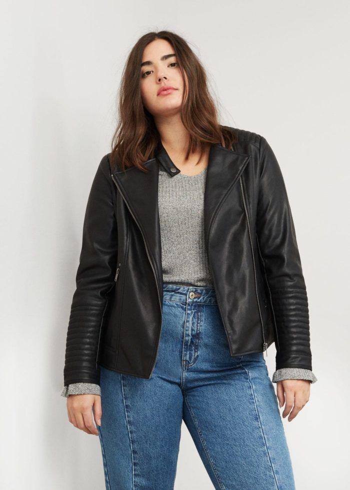 perfecto grande taille 10 vestes en simili cuir pour le. Black Bedroom Furniture Sets. Home Design Ideas