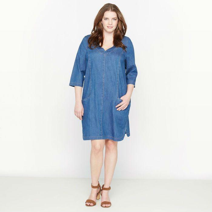 9 robes en jean pour le printemps 2017 for Robe housse grande taille