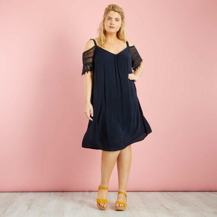 je veux une robe grande taille longueur genou. Black Bedroom Furniture Sets. Home Design Ideas
