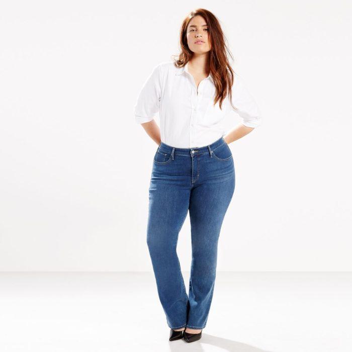 soldes jeans grande taille femme notre top 10. Black Bedroom Furniture Sets. Home Design Ideas