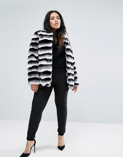 manteau court demi saison grande taille