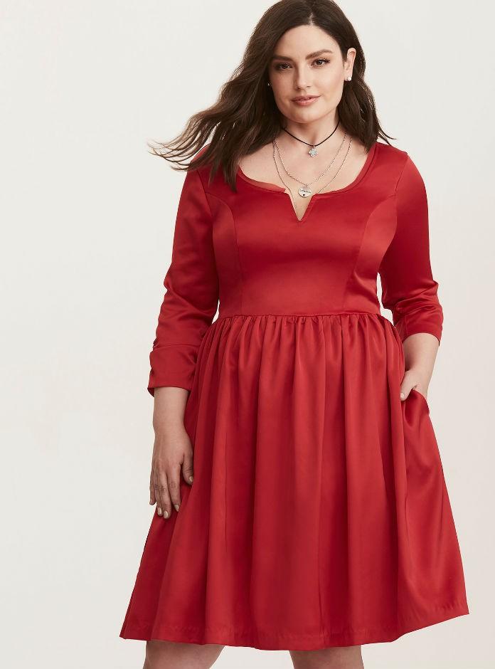 robe grande taille rouge notre top 10 pour enflammer l. Black Bedroom Furniture Sets. Home Design Ideas