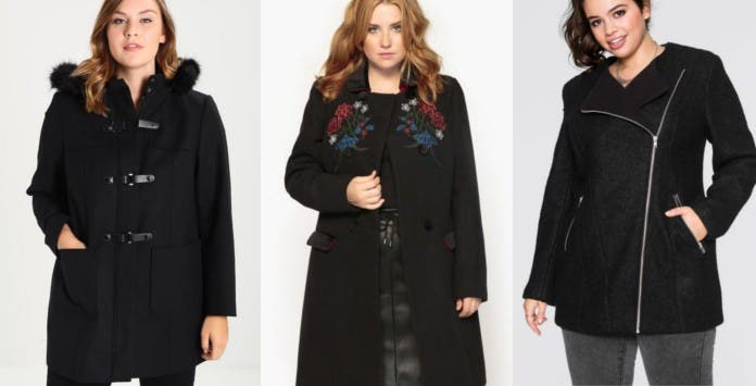 manteau noir grande taille 10 mod les tendance pour l 39 hiver 2017. Black Bedroom Furniture Sets. Home Design Ideas