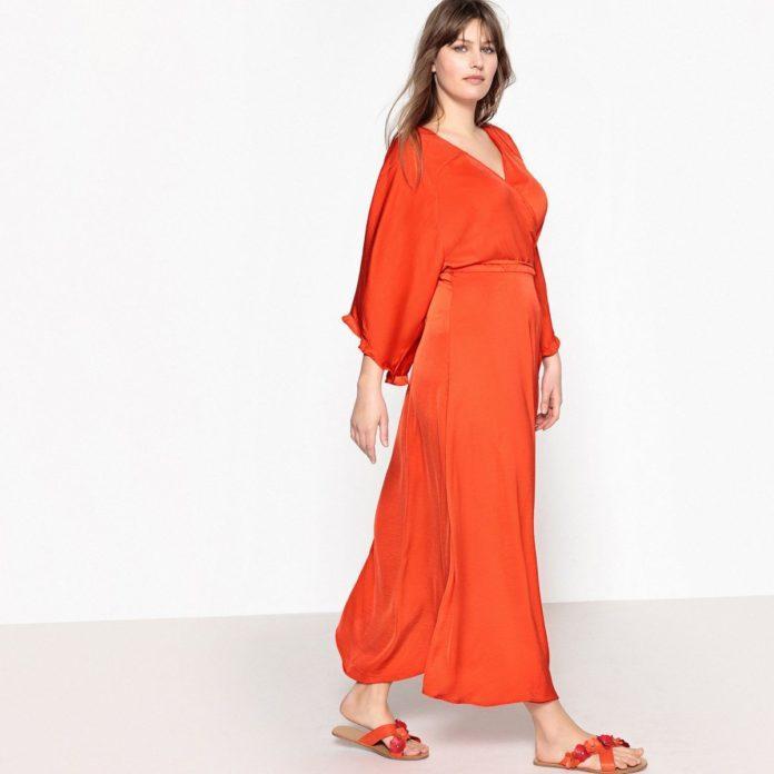 3 - La robe cache-cœur longue à manches évasées abba40c2b3d