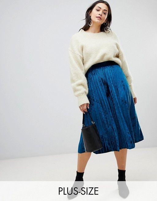 A la pointe du style avec ma jupe grande taille plissée cet