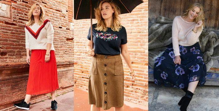 654b51cee94 Portez la jupe grande taille avec style pour cet hiver 2018 2019