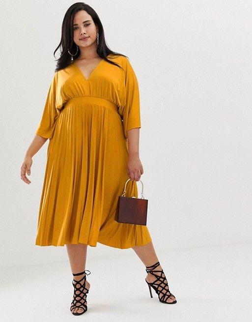 2 - La robe kimono mi-longue jaune 8888a5d33331