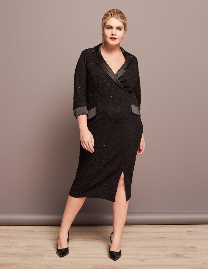 6 - La robe smoking grande taille fb6efa15792e