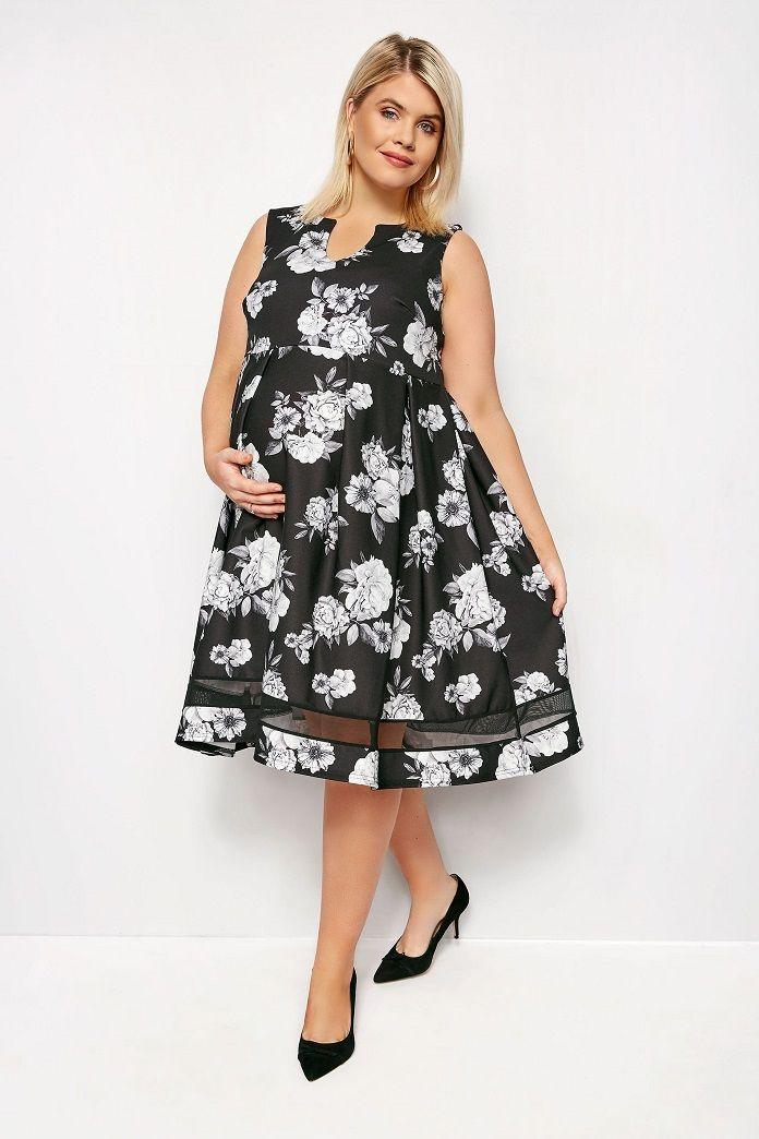 81ed681af46 robe-sans-manche-patineuse-soiree-maternite-noir-fleuri-blanc-yours.jpg
