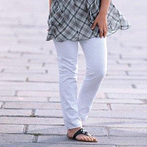 Jean blanc pour ronde